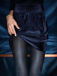 Kunert panty glanzend tweekleurenpatroon zwart (346510)