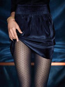 Kunert panty fijn ruitjespatroon zwart (347210)